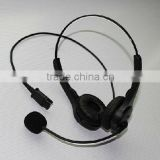 binaural USB/RJ11/DC plug headset headphone with microphone/volume control/mute function
