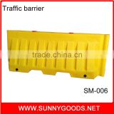 plastic road traffic safety water filled traffic barriers