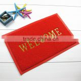 welcome pvc door mat with different colors