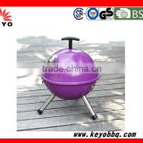 "KEYO high tempreture resistant safety device 12"" 14"" inch mini football charcoal BBQ barbecue grills for market promotion"