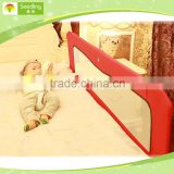 Collapsible baby bed rail protection, red bed fall prevention, extra long bed guard rail