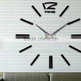 120cm diameter 3D EVA Wall Sticker Clock Promotion Gift Modern Design Art Clock!