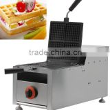 Stainless Steel Gas style four slices 180 degrees rotated industrial square gas waffle maker, Liege belgian Gas waffle baker