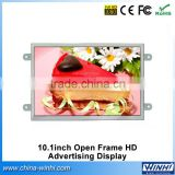 10 inch real 1080p shopping tv taxi lcd advertising display screen open frame lcd ad player