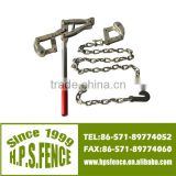 (China manufacturer) High tensile electric fencing wire chain grab puller with 1.2m galvanised chain