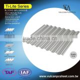 Sun Shading Solid Corrugated Polycarbonate Sheet (Ti-Lite Metallic Silver)