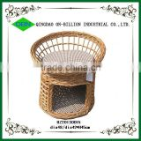 Lovely wicker pet sleeping basket with mats