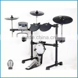 Silicone electric drum set, digital drum3-layer mesh drum head, electronic drum kit