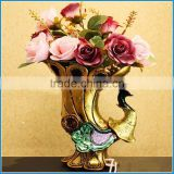 resin flower vase craft, resin ornaments