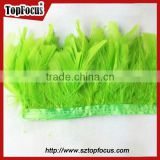 green trimming fringe for DIY cloth synthetic wholesale Turkey feathers