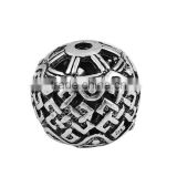 Zinc Based Alloy Spacer Beads Round Antique Silver