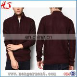 Latest cashmere wool shrug quarter zipper at neck sweater designs for men christmas sweaters