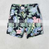 floral printing four way stretch factory price board short men