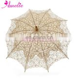 Wholesale Quality Fashion Handmade Battenburg Lace Vintage Umbrella Parasol For Bridal Bridesmaid Wedding