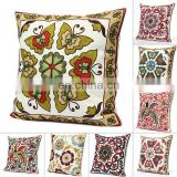 Vintage Style Luxury Tapestry Embroidered Cushion Cover Sofa Throw Pillow Case16'' Indian Suzani throw Hippie Bohemian wholesale