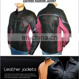 women leather jackets, high quality faux leather bias zippers fashion women leather jacket