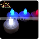led candles with real flame/led bulb lights candle for deco/color led candle with battery