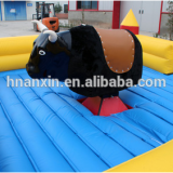 Soft inflatable toys adults mechanical bull rodeo simulator for amusement park