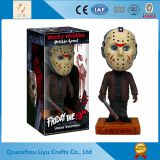 Killer Figure Mask Figurine Jason Resin Wobble Head