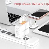 PowerFalcon 45W PD dual port (USB-C+USB-A) charger / interchangable
