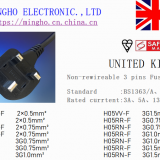 UK、SASO、PSB Non-Rewirecable Fused Plug