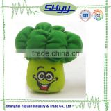 2015 New design stuffed plush vegetable toy plush broccoli