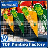 custom outdoor/indoor fabric flags banner hanging scroll banners-qt