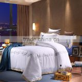 Luxury white and golden 800 thread count 100% cotton musical notes embroidery bedding set