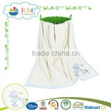 Alibaba supplier soft Embroidered white baby blanket for sale