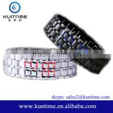 Polished Metal Watch LED Relojes Pulsera