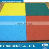 Whosales square interlock EPDM black Rubber Floor Tiles