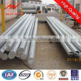 Hot DIP Galvanised Electric Steel Pole with bottom strip