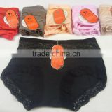 0.8USD Fashional Design Big Waist Size Colourful 100% Good Cotton Top Flexible Indian Ladies Panties(jlhnk107)