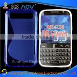 S line tpu gel cell phone cover for Blackberry Q20 Classic Non Camera
