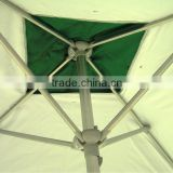 weatherproof Brilliance Operates with auto tilt and crank open system aluminum umbrella frame