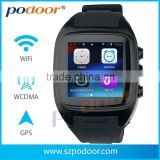 latest 1.54 smart watch phone wifi bluetooth watch 3g G sensor, GSM/WCDMA 3G mobile phone android 4.2 android smart watch