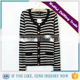Girls and Boys black and white striped cardigan sweater
