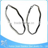 ZS17108 women black anodized fashion big hoop earring crystal micro pave earring