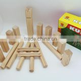 wooden miking game set with high quantity ,kubb set for kids ,garden game set