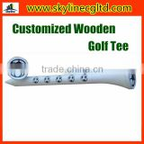 Wholesale Customized Wooden Golf tee/Printed Golf Tee