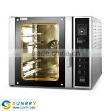 Energy saving electric 5 trays automatic pita bread hot air circulating oven machine for sale