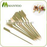 Non-stick paddle food picks made of natural bamboo