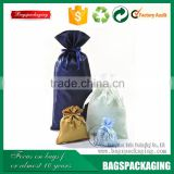 Stylish drawstring extensions satin hair bag for packaging