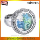 New Arrival Luminous Locket Ring Floating Memory Charm Jewelry