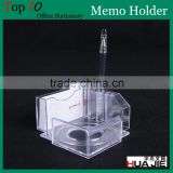Plastic clear card holder, PP transparent note holder with pen case