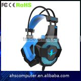 Glittering with breathing rhythm supper factory guangzhou bass gaming oem headphone