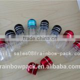plastic material capsule bottle with metal cap for man enhencement pills packaging/sex pill container/capsule bullet shell