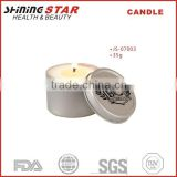 JS-07003 35g scented wholesale candle in circle tin