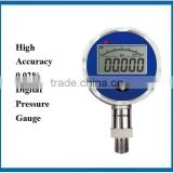High Accuracy 0.02% calibration standard pressure gauge with Digital LCD display