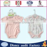short sleeve 2pcs 100%cotton Baby body baby clothes wholesale price